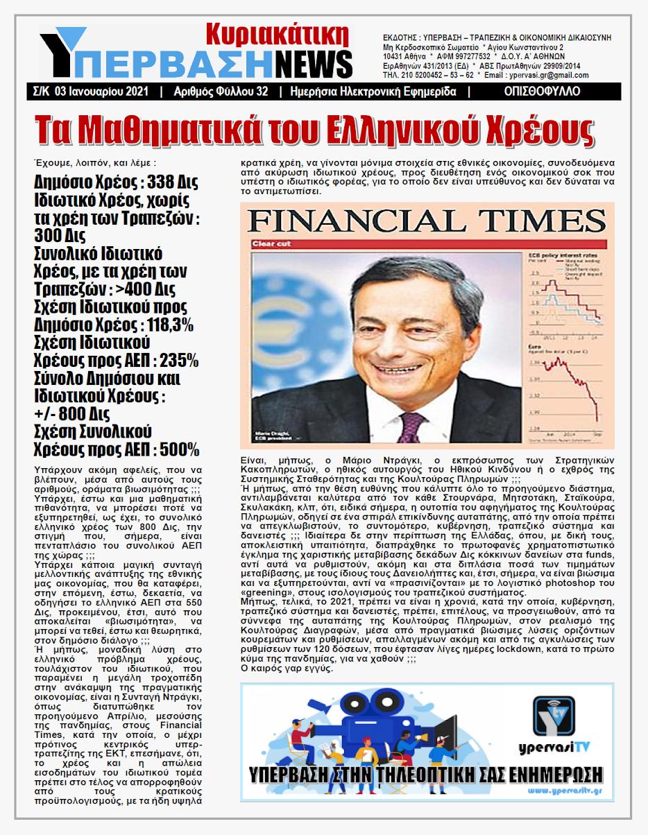 Η ΜΠΑΝΚΑ ΕΙΝΑΙ ΣΤΟΝ ΑΕΡΑ !!! Στα 300 Δις το Κόκκινο Ιδιωτικό Χρέος σε Τράπεζες, Δημόσιο και Ασφαλιστικά Ταμεία !!!