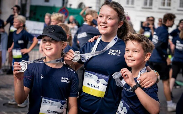 Princess Isabella, Prince Vincent and Princess Josephine took part in the Royal Run 2021