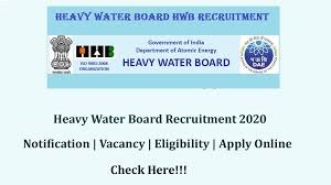 Heavy Water Board Recruitment for Technical Officers, Stenographers, Drivers and other Posts Apply Online @ www.hwb.gov.in /2020/01/Heavy-Water-Board-Recruitment-for-Technical-Officers-Stenographers-Drivers-and-other-Posts-Apply-Online-at-hwb.gov.in.html