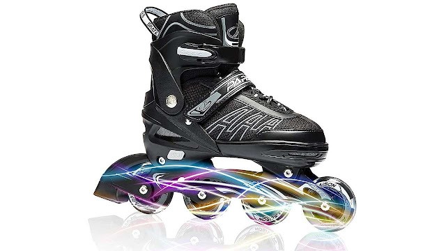 ITurnGlow Adjustable Inline Skates for Kids and Adults