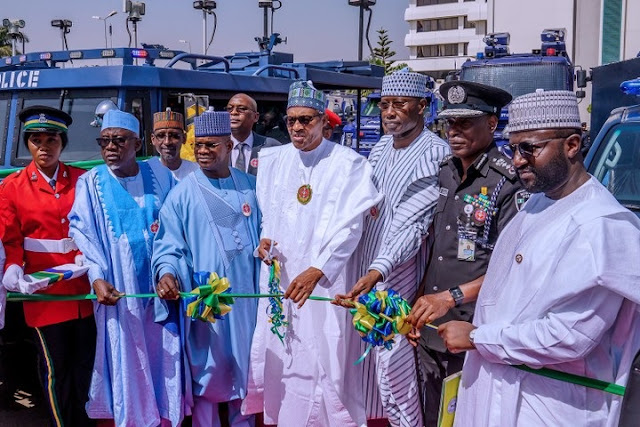 Buhari Commissions New Police Vehicles And Police Crime Database Centre (Photos)