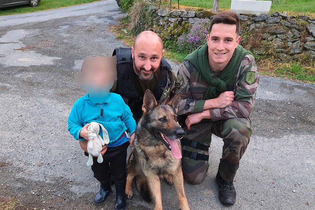Aveyron : Jedï, la chienne des gendarmes, parvient à retrouver un petit garçon perdu dans les bois