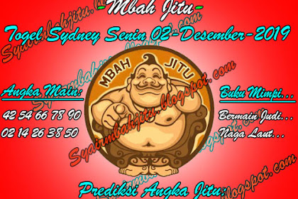 Syair Mbah Jitu Togel Sydney Senin 02 Desember 2019