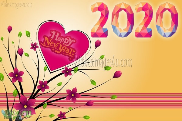 Happy New Year 2020 HD Romantic Greetings Download