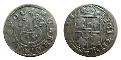 Półtoraki z 1616 - Bydgoszcz - z  leżącą 6 w dacie