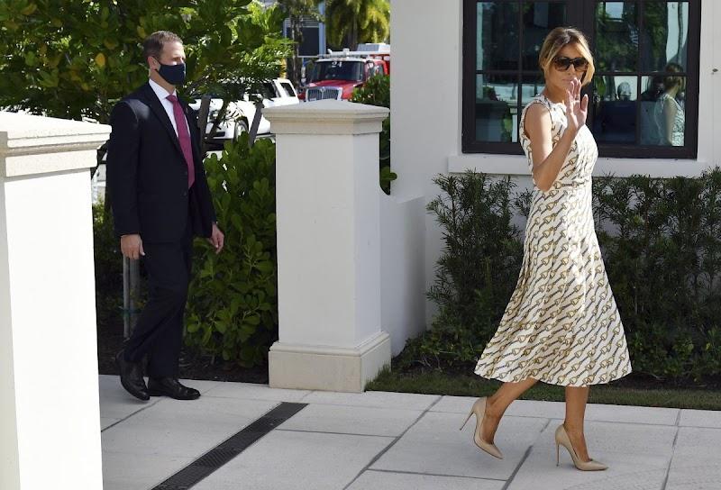 Melania Trump at Morton and Barbara Mandel Recreation Center Polling Place in Palm Beach  3 Nov-2020
