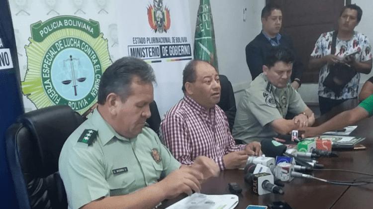 Romero junto a Medina en uno de los habituales informes sobre la criminalidad en Santa Cruz / ARCHIVO WEB