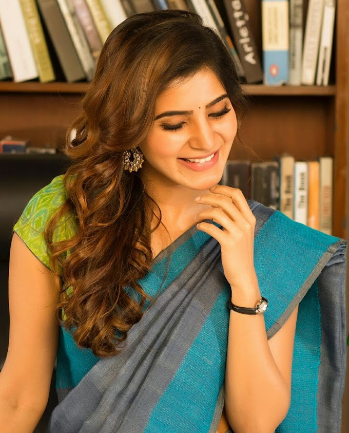 Samantha cute hot wallpaper in saree
