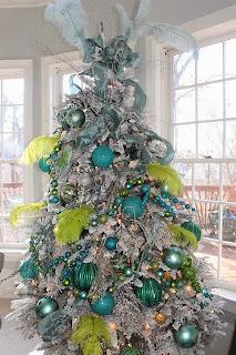 árbol navideño turquesa