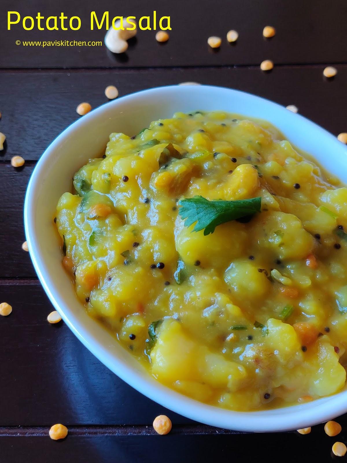 Potato Masala For Poori | Poori Masala Recipe | Poori Kizhangu