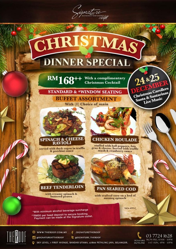 Christmas Dinner Special @ Signature The Roof