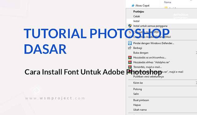 Install Font untuk Adobe Photoshop