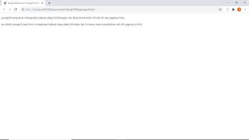 Tampilan Paragraf html