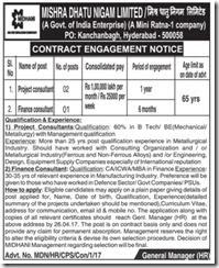 MIDHANI Recruitment 2017 midhani.gov.in Application Form