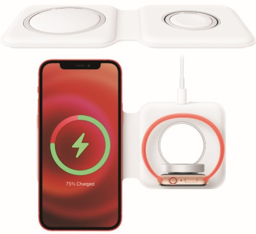 The MagSafe Duo Charger for Apple iPhone 12 Models and Smart Watches