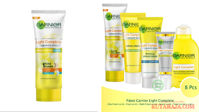 Garnier light complete kini hadir dengan formula baru yaitu mengandung pencerah dan mengandung SPF 20/PA+++ yang melindungi kulit dari paparan sinar jahat matahari.