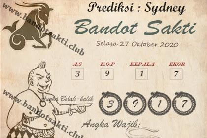 Syair Bandot Sakti Togel Sydney Selasa 27 Oktober 2020