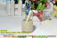 Kartu Ucapan Hadiah Botol Renda Raju
