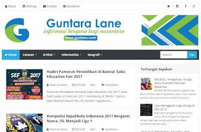 Rebranding Website Catatan Si iGun Menjadi Guntara Lane www.guntara.com