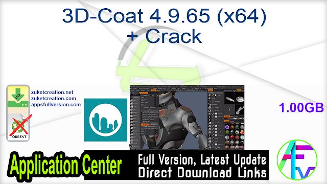 3D-Coat 4.9.65 (x64) + Crack