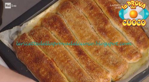 Prova del cuoco - Ingredienti e procedimento della ricetta Sfoglia al gusto pizza di Andrea Mainardi
