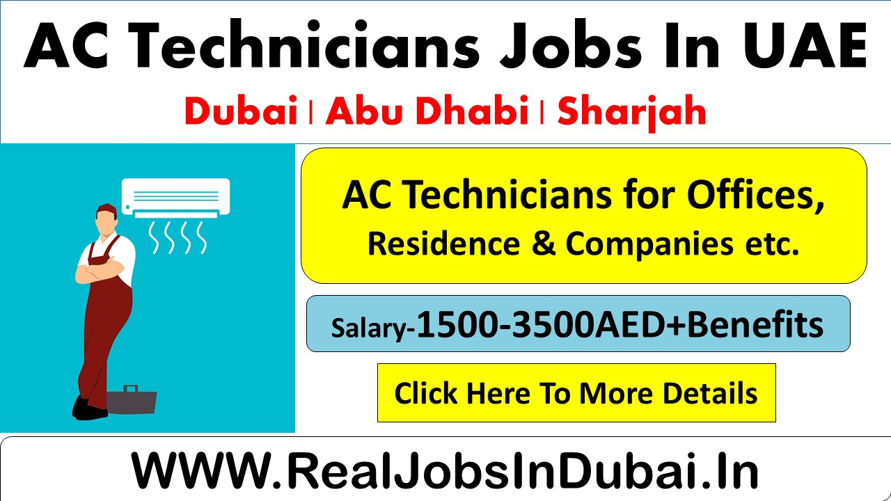 Ac Technician Jobs In Dubai Abu Dhabi Sharjah Uae 2020