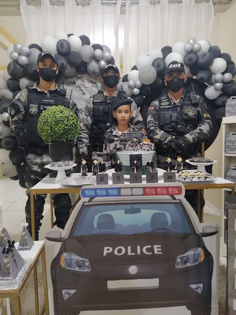 Criança de 9 anos pede aos pais festa de aniversário com o tema de Policiais da ROTAM