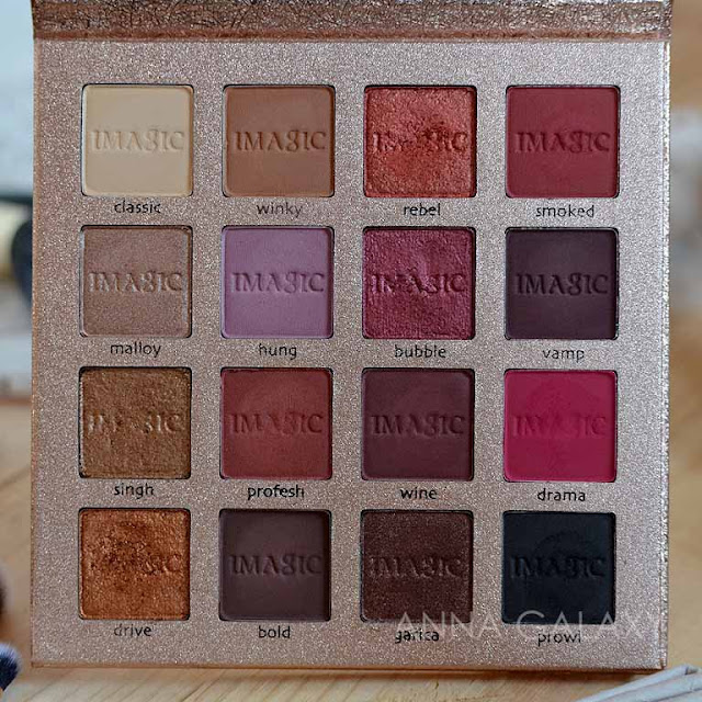Imagic PROfessional cosmetics 16 color eyeshadow palette фото