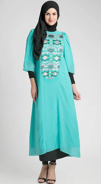 Contoh Model Busana Muslim Ibu Hamil Untuk Lebaran Trendy