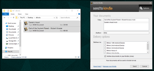 How to Load DRM-Free eBooks Onto Your Kindle