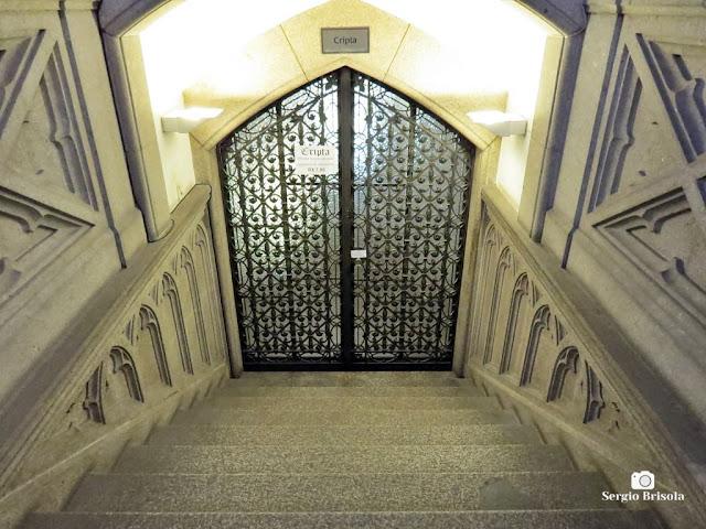 Vista da entrada da Cripta da Catedral da Sé - Sé - São Paulo