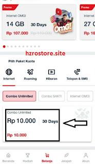 Paket Telkomsel Combo Unlimited 10ribu