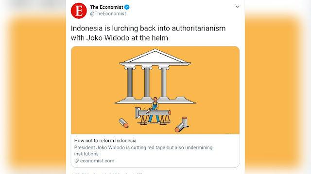 <i>The Economist</i>: Indonesia Kembali ke Otoritarianisme dengan Kepemimpinan Jokowi