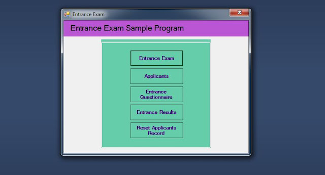 Entrance Exam Home page
