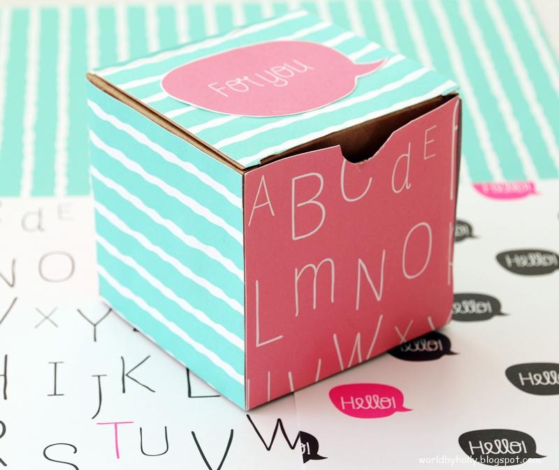 pudełko na prezent hand made