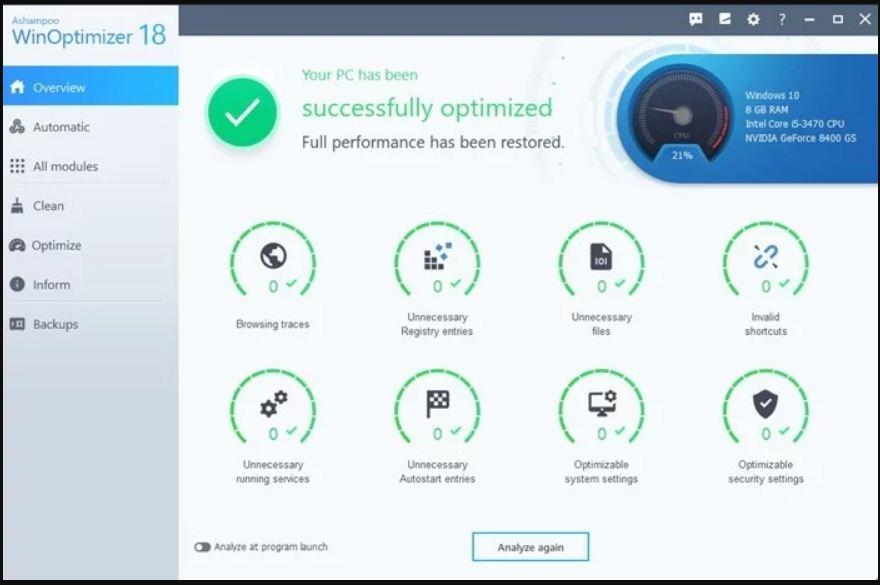 برنامج تسريع الكمبيوتر ويندوز 10