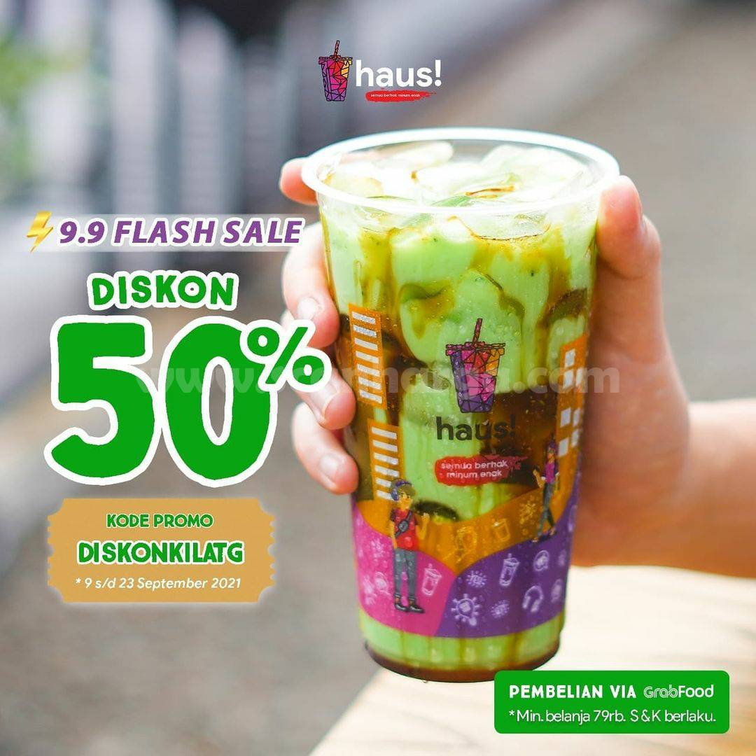 HAUS! Promo FLASH SALE 9.9 GRABFOOD DISKON hingga 50%