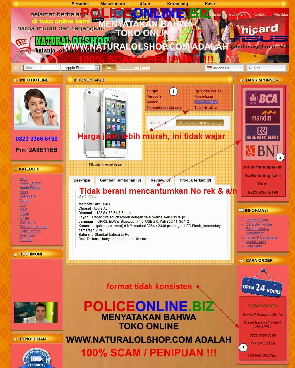 www.naturalolshop.com toko online 100% PENIPU / SCAM