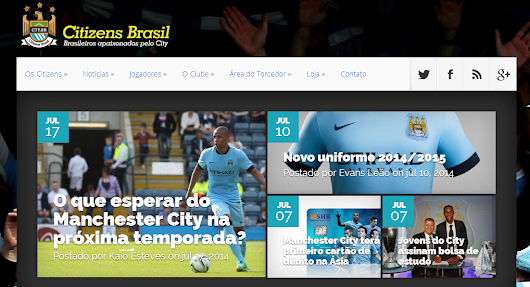 Manchester City Brasil: Novo site do Manchester City Brazil