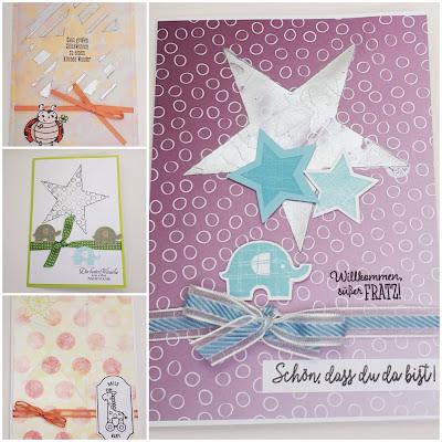 Babykarten mit süßen Tierchen Stampin' Up! www.eris-kreativwerkstatt.blogspot.de