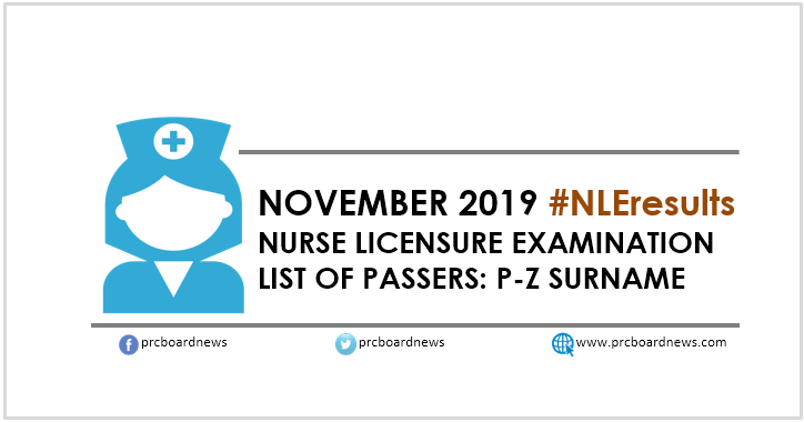P-Z list of passers: November 2019 NLE Result