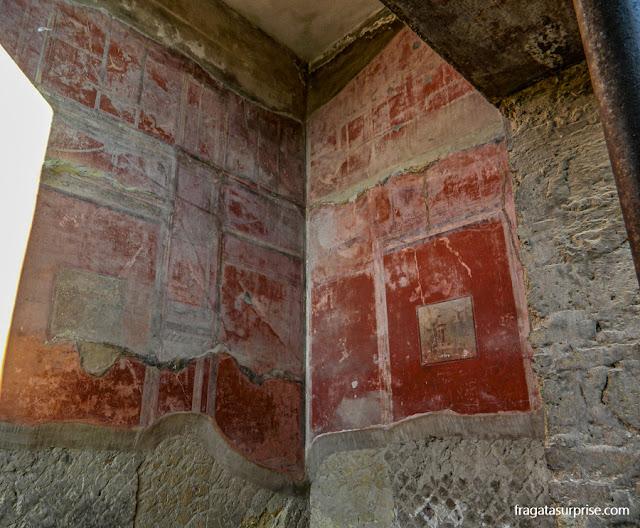 Afresco romano em Herculano, Itália
