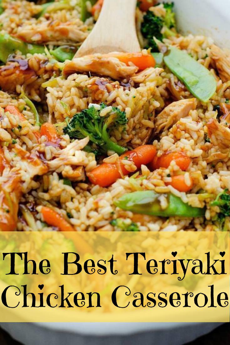 The Best Teriyaki Chicken Casserole