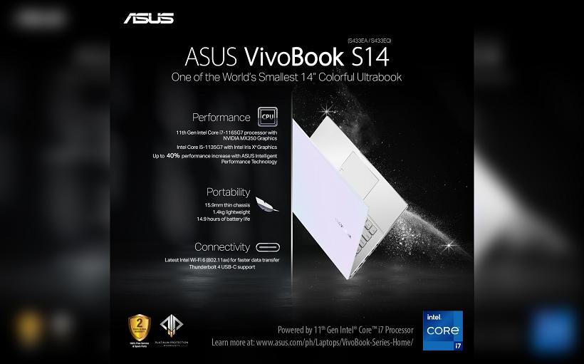 ASUS Vivobook S14 S433 11th Gen Intel Core