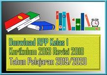 RPP K13 SD/MI Kelas 1 Semester 2 Revisi 2018 Tapel 2019/2020