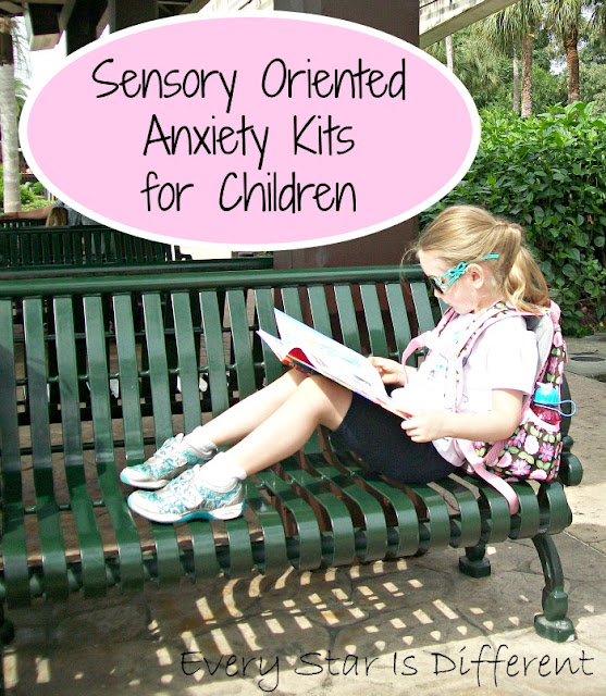 Sensory oriented anxiety kits for children