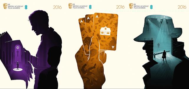 cartazes criativos BAFTA