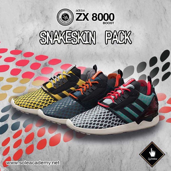 huge discount 1a2a7 46659 Adidas ZX 8000 Boost Snakeskin Pack  Analykix
