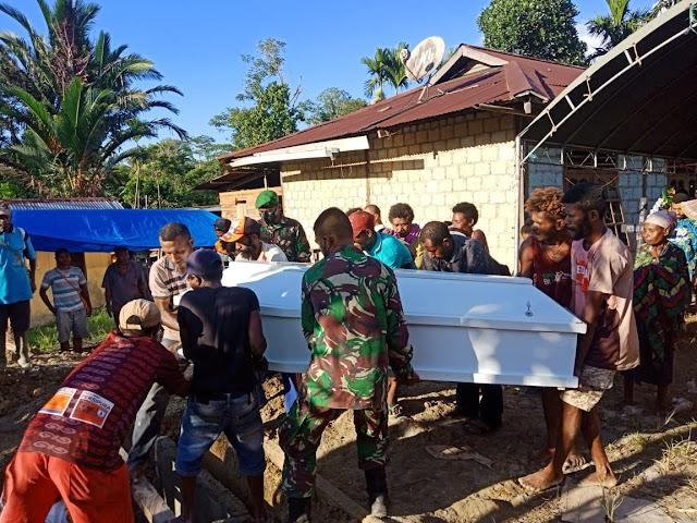Wujud Empati Satgas Yonif 512 Kepada Masyarakat Perbatasan Papua