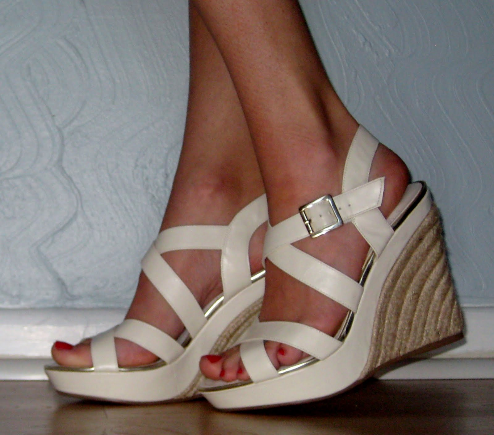 d798d217620b My first April order from Sole Society was for the Cline in cream (also  comes in brown). These platform wedges are a work of art with their  gorgeous jute ...